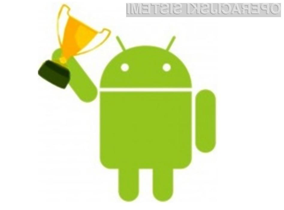 Delež naprav z operacijskim sistemom iOS se je na račun priljubljenosti Androida zmanjšal za kar 3 odstotke.