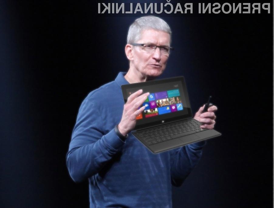 Za Apple je tablični računalnik Microsoft Surface že zgodovina!