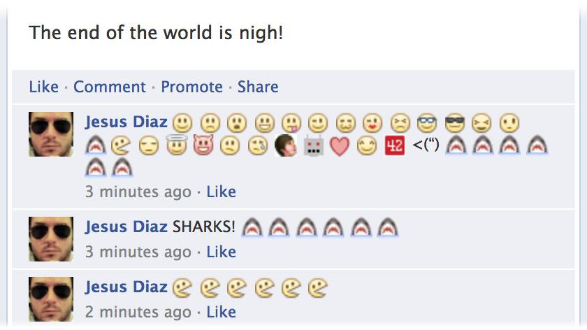 Facebook s smeški v komentarjih
