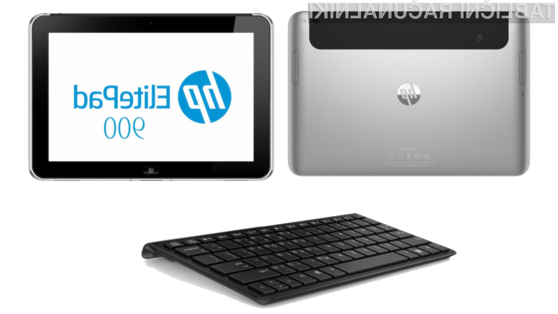 HP ElitePad 900 se lahko pohvali z operacijskim sistemom WIndows 8 in Intelovimi procesorji Clover Trail.