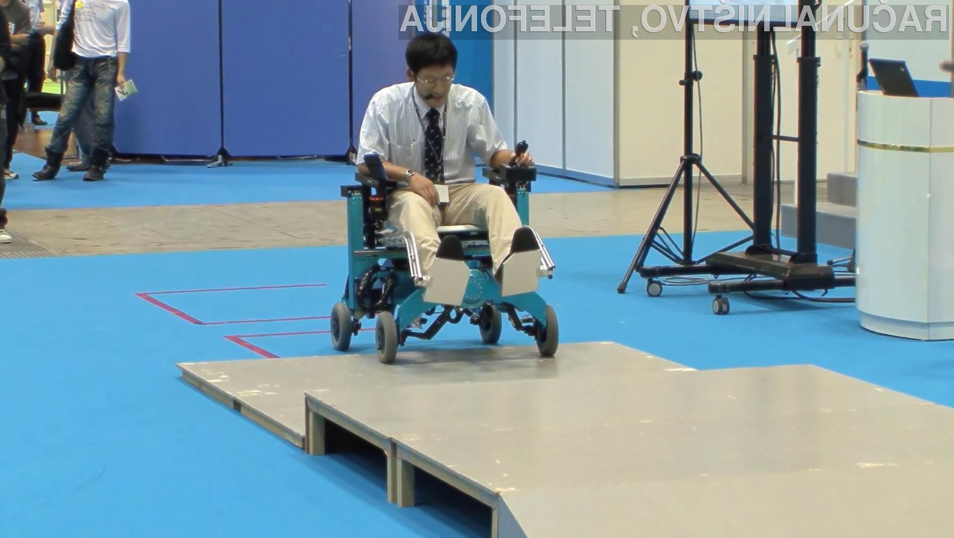 Invalidski voziček, ki se lahko vzpenja po stopnicah