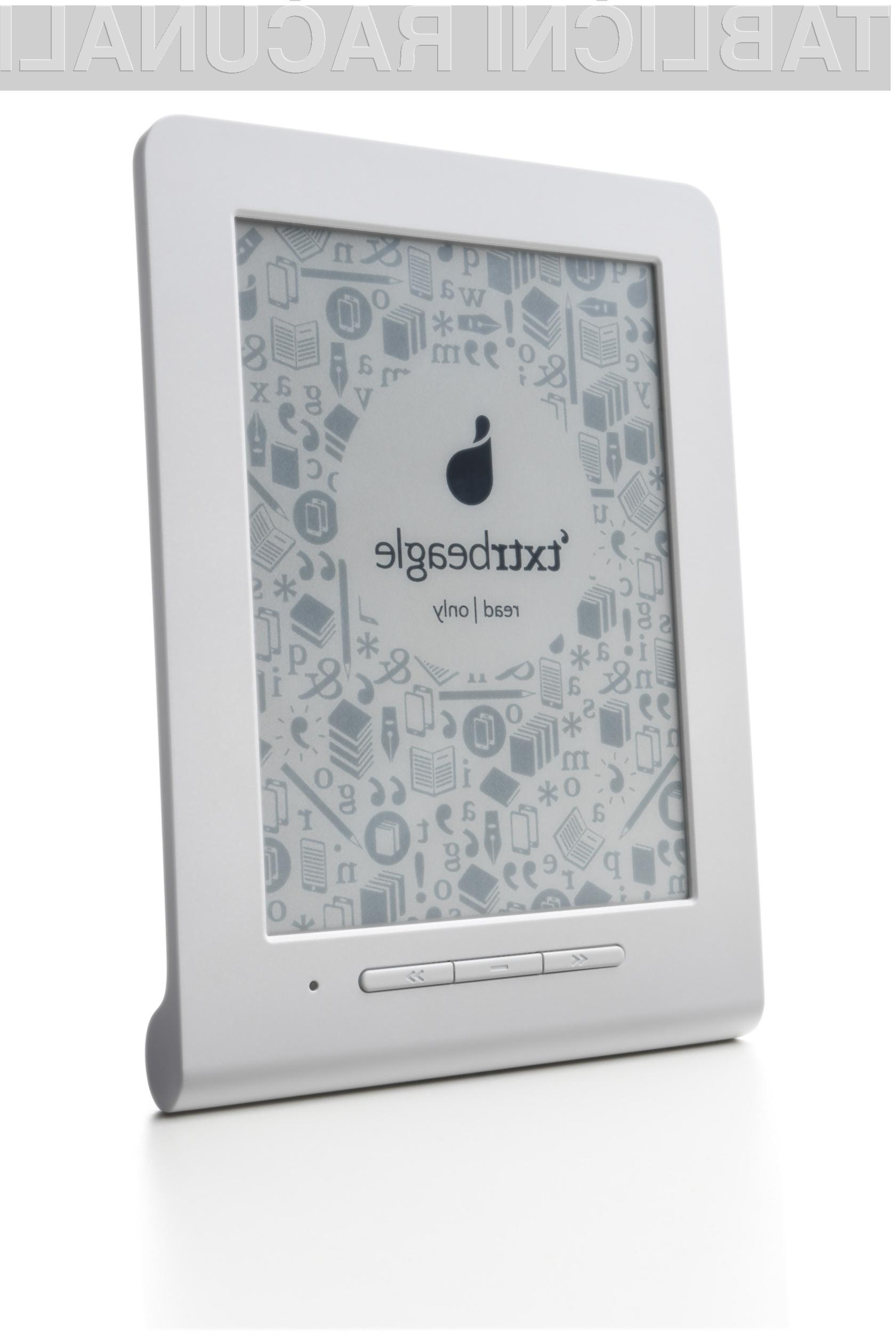 Bralnik elektronskih knjig z oznako Txtr Beagle je sodeč po besedah proizvajalca najmanjši in hkrati najlažji bralnik elektronskih knjig na svetu.