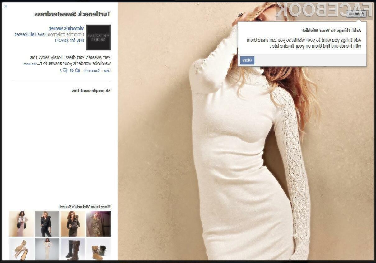 Facebook naj bi uporabnikom kmalu omogočil nakupovanje neposredno znotraj Facebook sistema.
