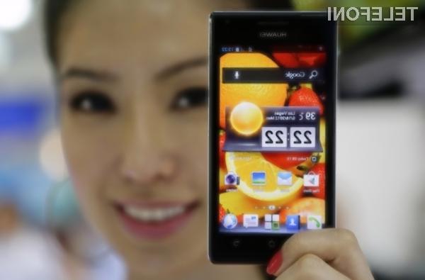 Pametni mobilni telefon Huawei Mate bomo le stežka stlačili v žep!