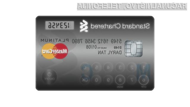Z novo kreditno kartico podjetja MasterCard je varnost pri spletnih nakupih zagotovljena!