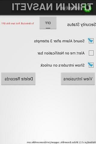 Program HiddenEye bo fotografiral vsakega, ki bo napačno vpisal geslo za odklep mobilnika Android.