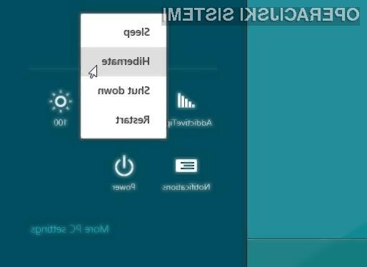 Kako omogočiti hibernacijo v Windows 8