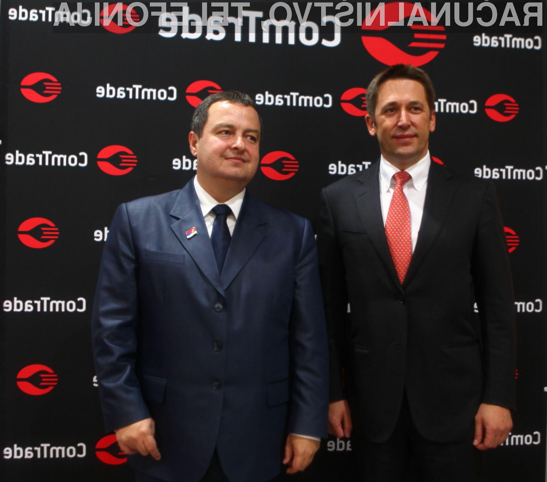 Veselin Jevrosimović, predsednik in lastnik skupine ComTrade, predsednik vlade Republike Srbije Ivica Dačić