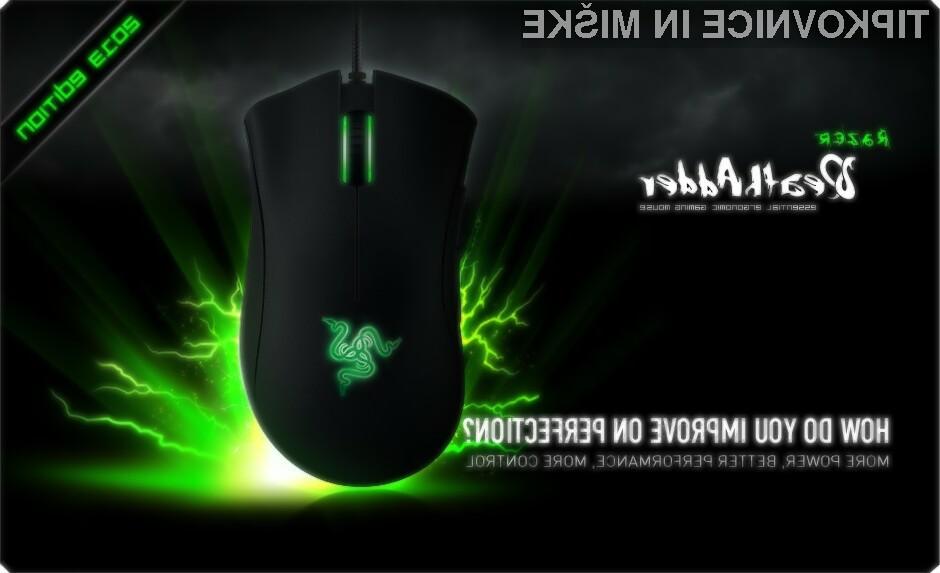 Razer je predstavil nekoliko prenovljeno različico kultne računalniške miške DeathAdder.