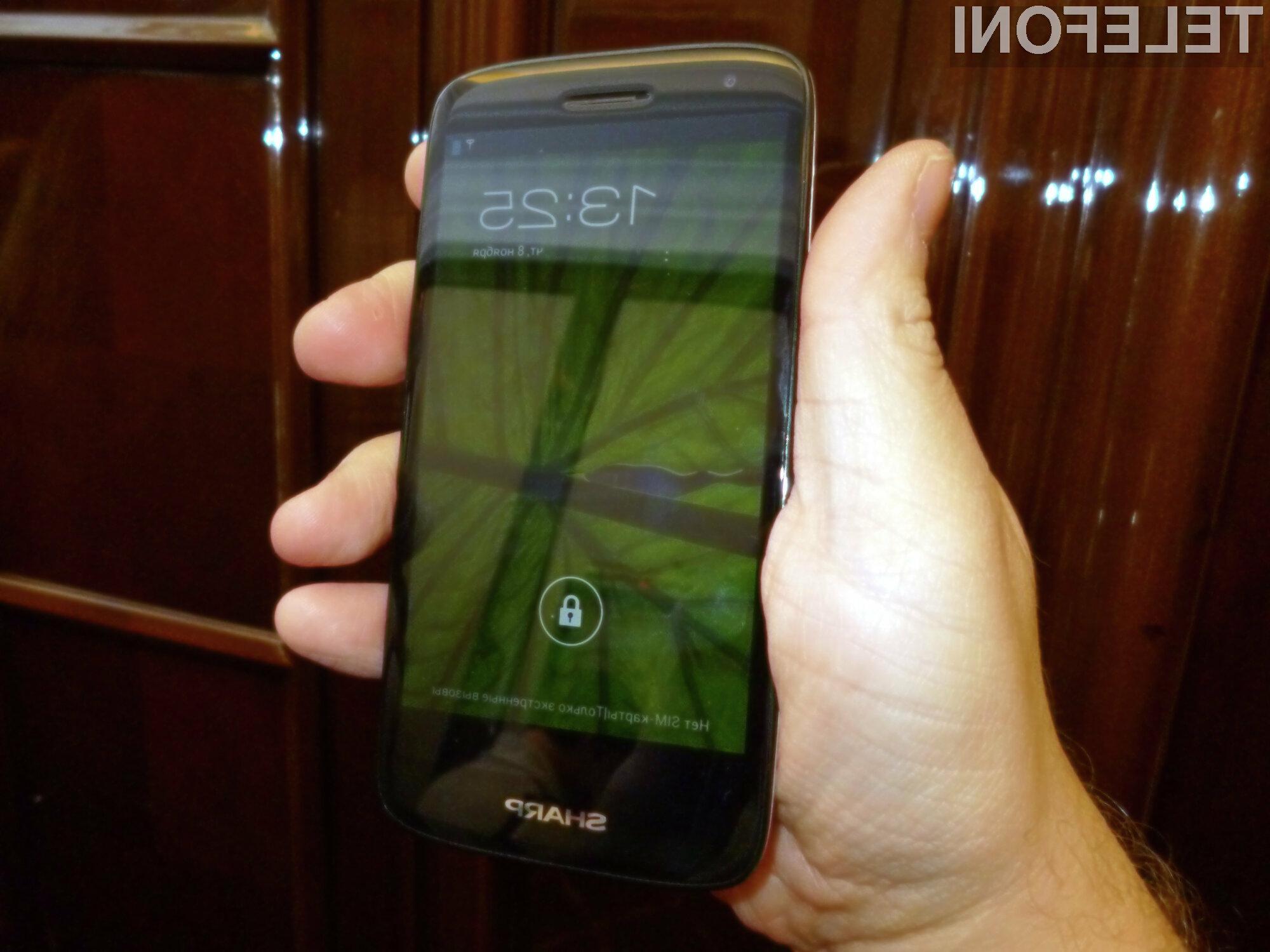 Sharpov Aquos SH930W se bo najprej pojavil na Ruskem trgu.