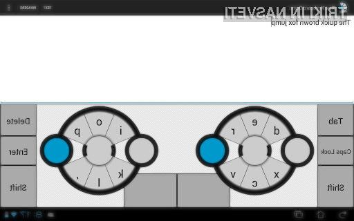 Navidezna tipkovnica Slice Keyboard nam bo vsaj na začetku povzročala kopico težav.