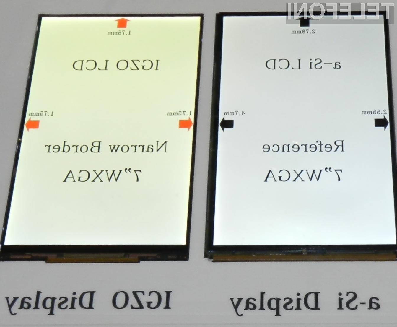 Tehnologija IGZO omogoča izdelavo zaslonov izjemno visokih ločljivosti.