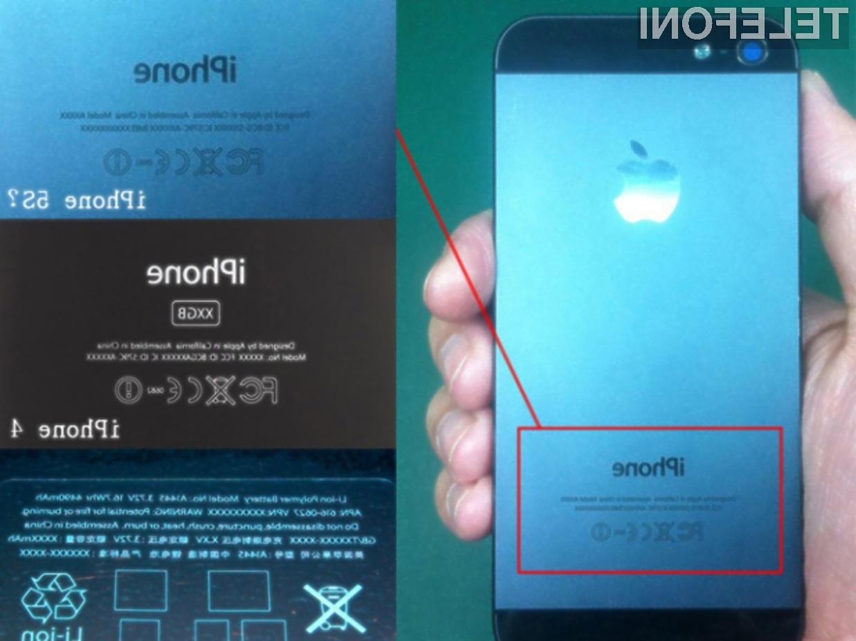 Naslednik mobilnika iPhone 5 ponovno buri duhove