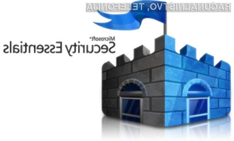 Protivirusna rešitev Microsoft Security Essentials ni primerna za zaščito pred zlonamernimi kodami!