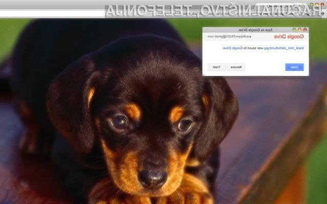 Shranjujmo spletne vsebine neposredno v Google Drive