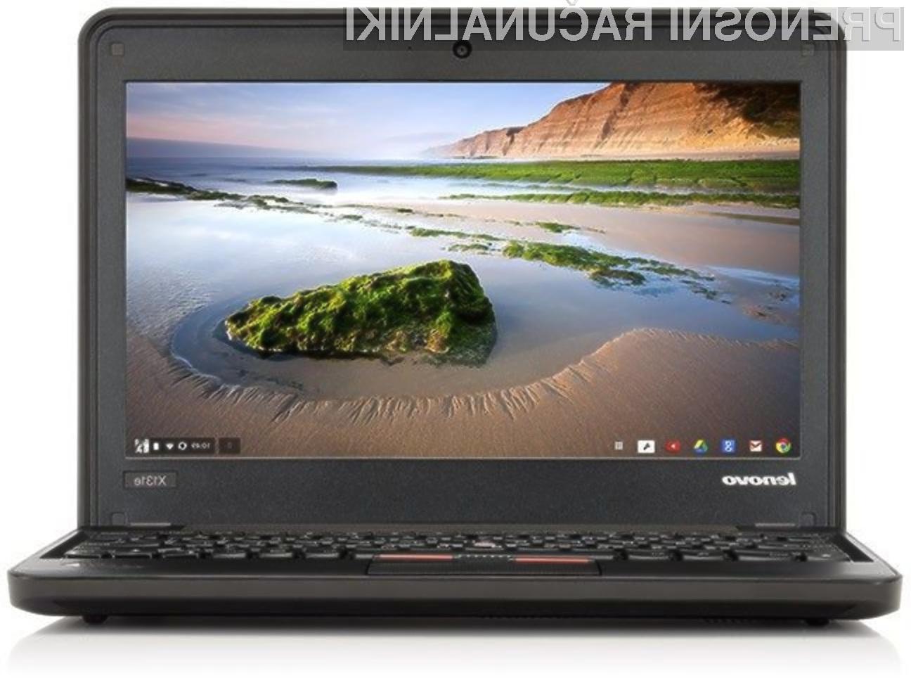 Thinkpad X131e Chromebook je prvi prenosnik podjetja Lenovo, ki poganja Googlov operacijski sistem Chrome OS.