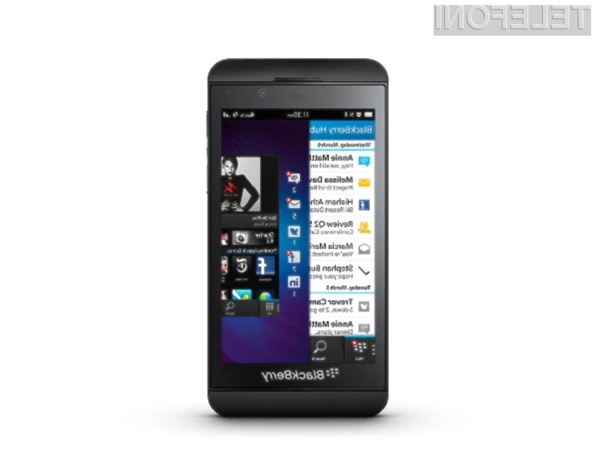 Na dotik občutljivi BlackBerry Z10.
