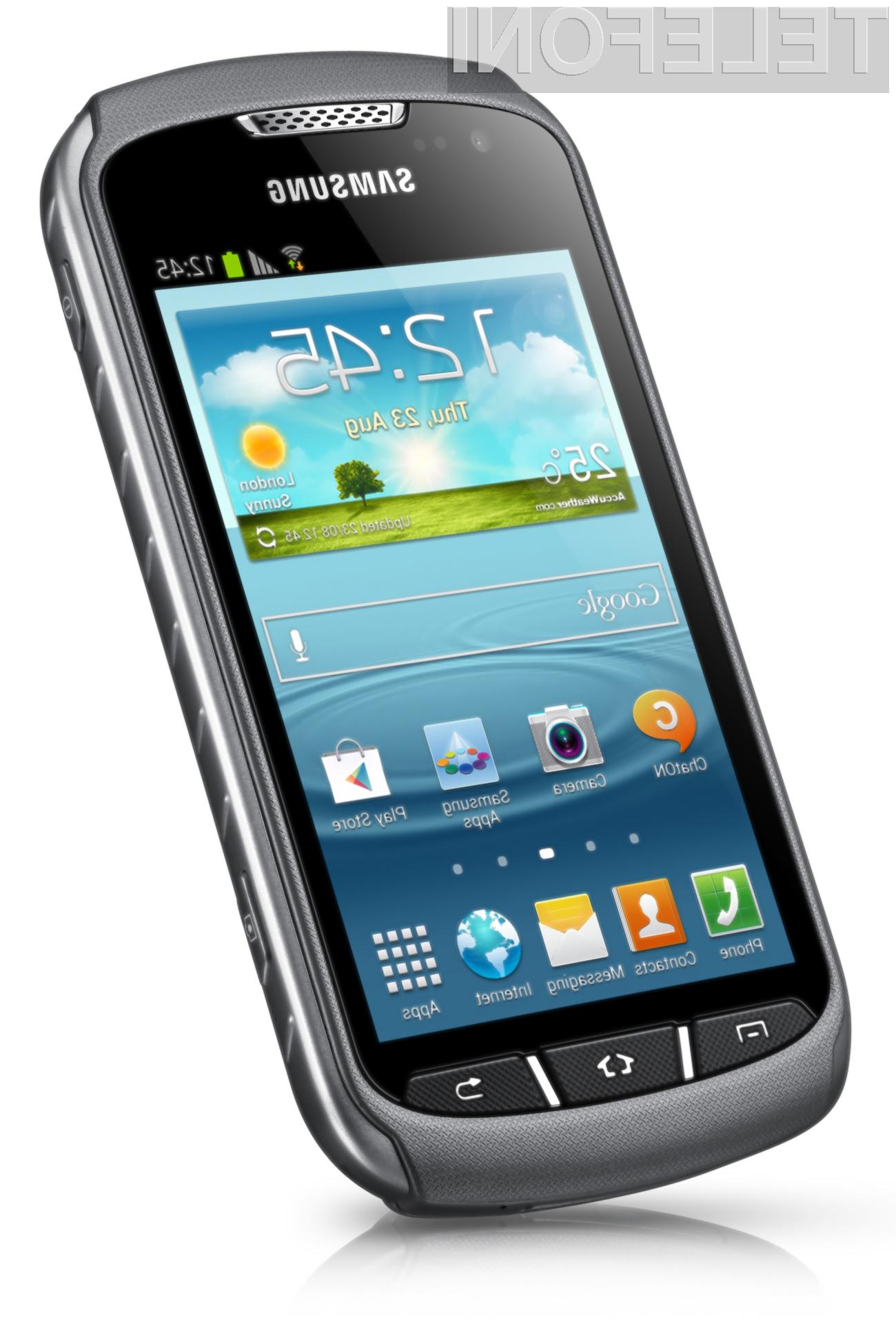 Mobilnik Samsung Galaxy Xcover 2 se lahko brez težav spopada s prahom, vodo in padci!