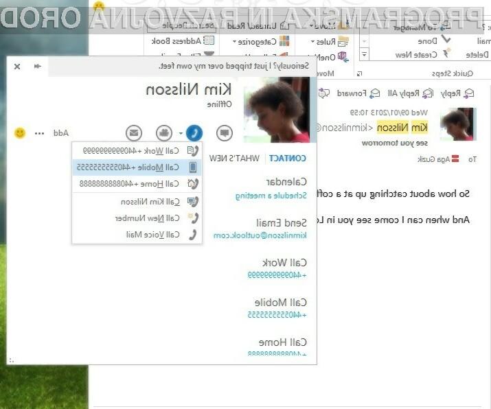 Skype in Outlook sta postala eno!