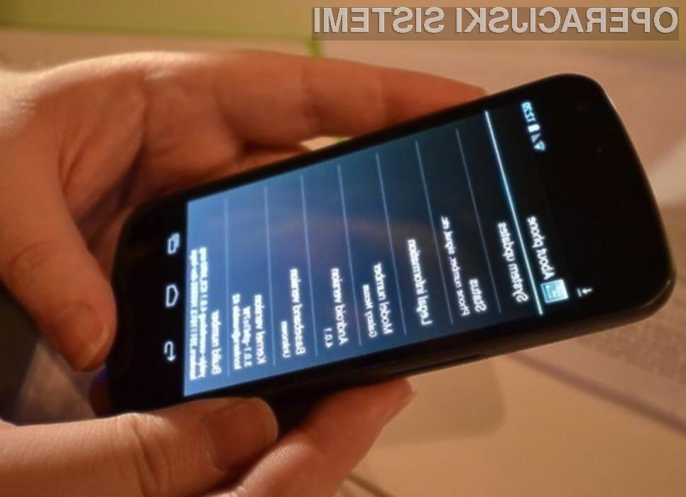Mobilni operacijski sistem Android 4.2.2 Jelly Bean je trenutno na voljo le za Googlove mobilne naprave družine Nexus.
