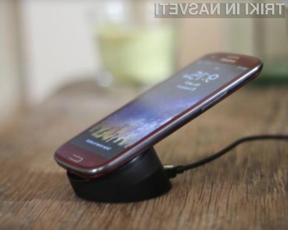 Za vzpostavitev sistema brezžičnega polnjenja na mobilniku Samsung Galaxy S3 potrebujemo zgolj pet minut.