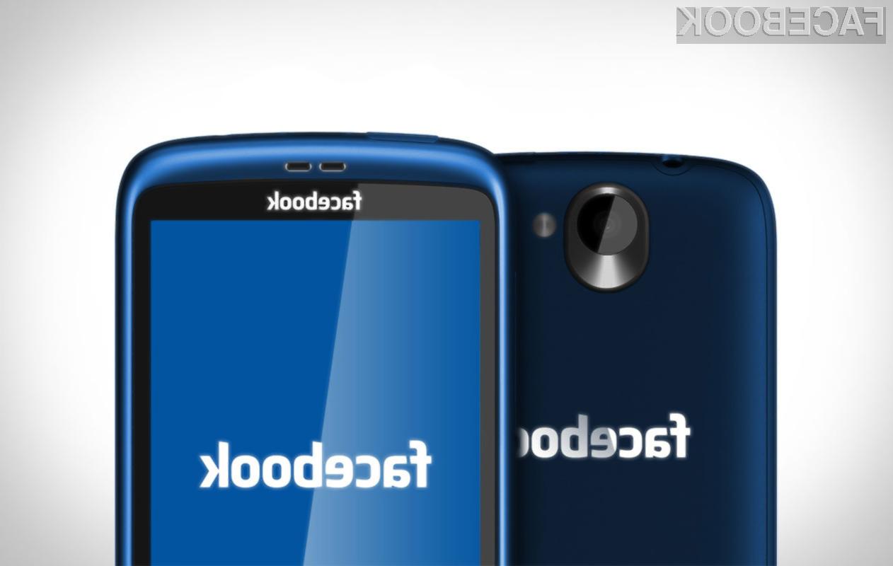 Facebookov mobilnik bo kupcem predvidoma na voljo v drugi polovici tega leta
