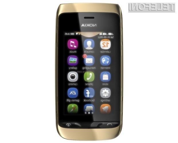 Za nakup pametnega mobilnega telefona Nokia Asha 310 bo potrebno odšteti zgolj stotaka!