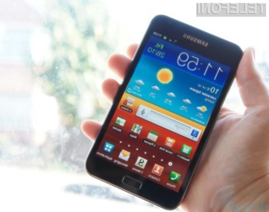 Operacijski sistem Android 4.1.2 Jelly Bean se odlično prilega mobilniku Galaxy Note GT-N7000.