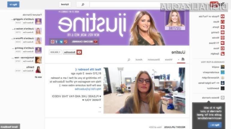 YouTube je tokrat spremenil podobo posameznih video kanalov.