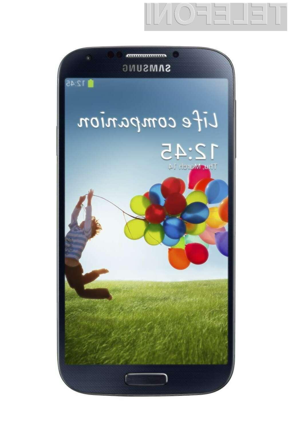 Prenovljeni pametni mobilni telefon Samsung Galaxy S4 naj bi prevzel lovoriko najzmogljivejšega na modrem planetu!