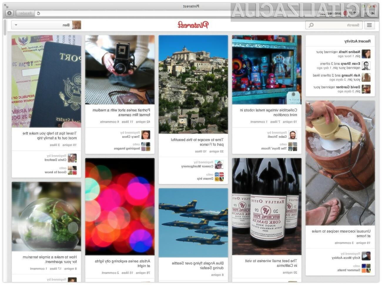 Družbeno omrežje Pinterest vas bo s prenovljeno obliko in novimi funkcijami zlahka prepričal!