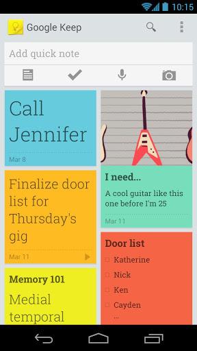 Spletno beležnico Google Keep je trenutno moč uporabljati le na novejših mobilnih napravah Android.