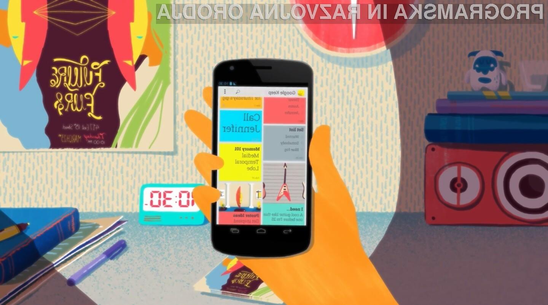 Storitev Google Keep boste lahko uporabljali tako preko spletnega brskalnika kot s pomočjo aplikacije za Android.