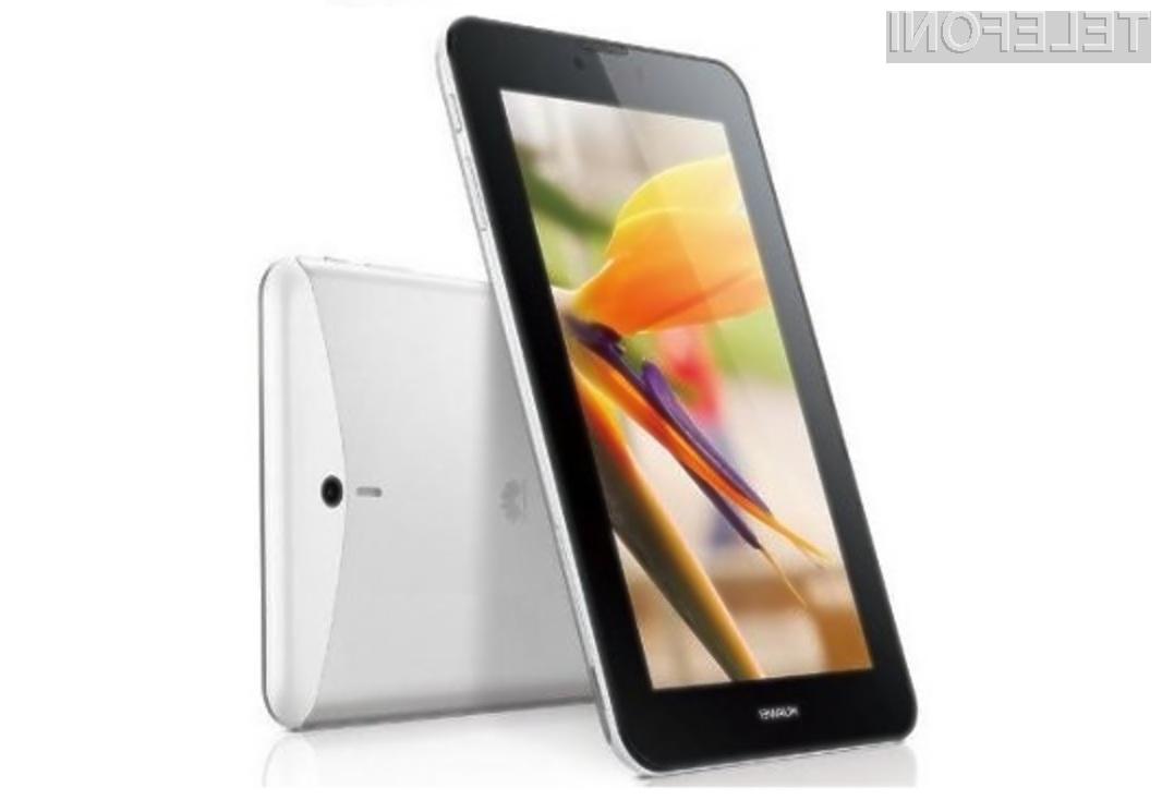 Tablični računalnik Huawei MediaPad 7 Vogue naj bi ponujal odlično razmerje med ceno in zmogljivostjo.