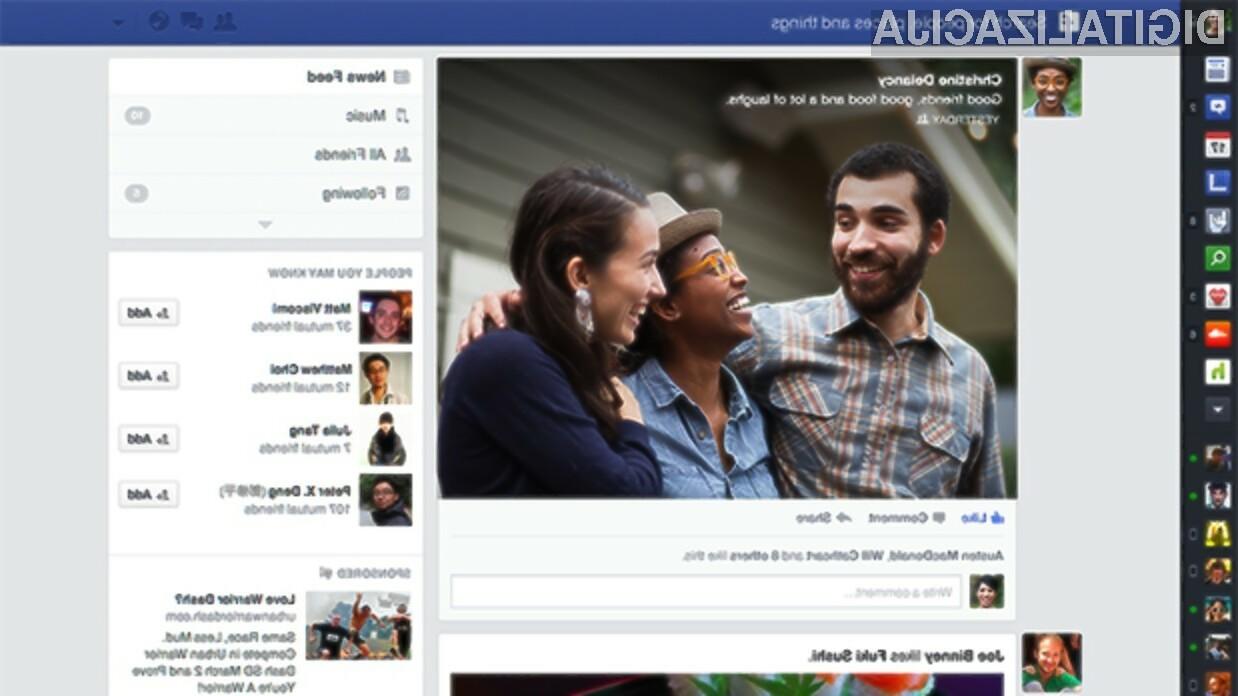 Facebook je s prenovo osrednjega prikaza novic postal še preglednejši in uporabnejši.