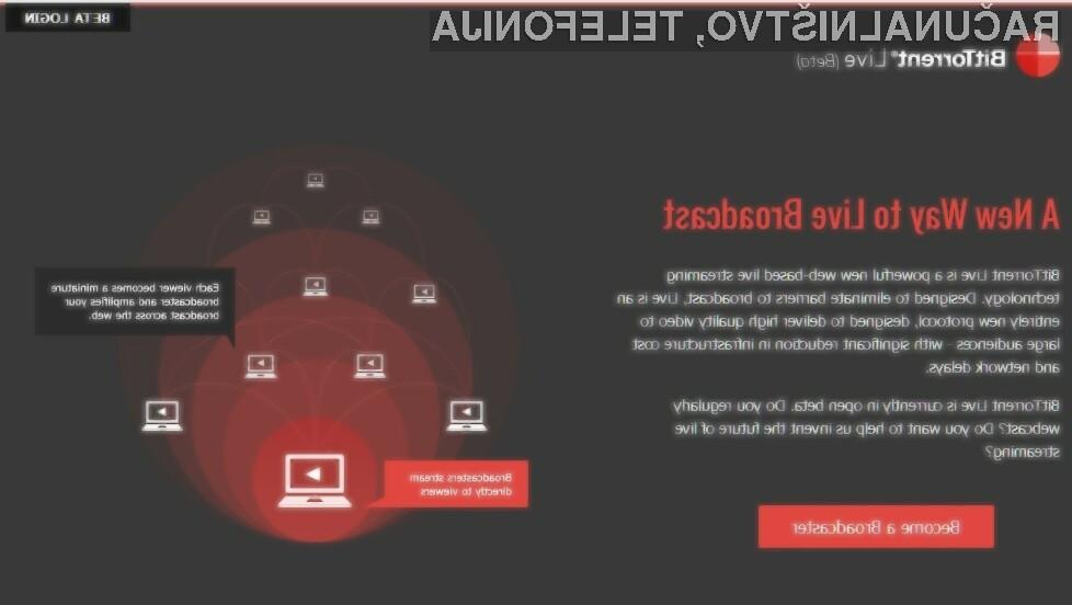 Protokol BitTorrent Live je resnično pisan na kožo deljenju in pretočnemu predvajanju videoposnetkov.