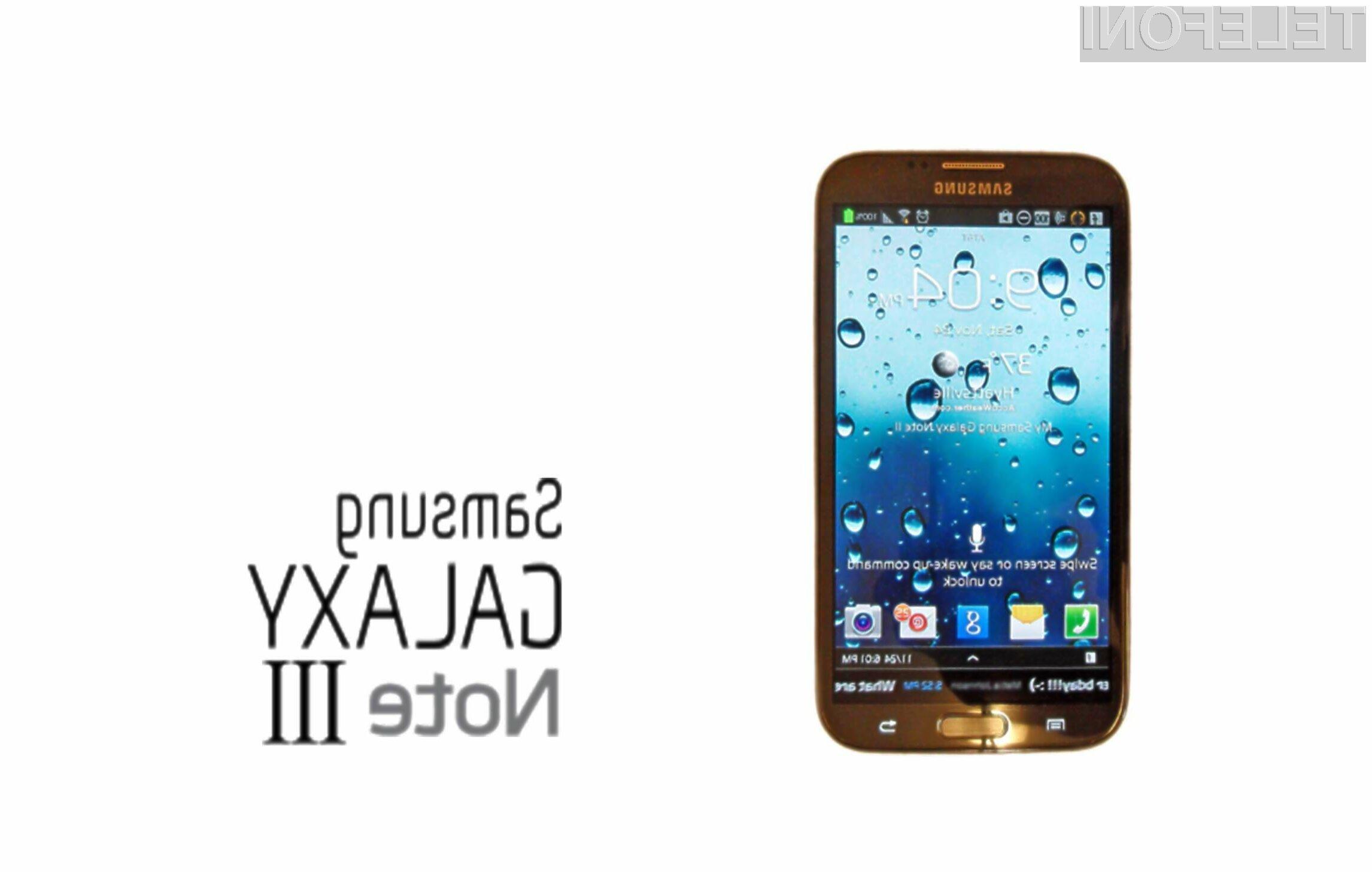 Galaxy Note 3 bomo lahko premierno videli na letošnjem sejmu IFA 2013.