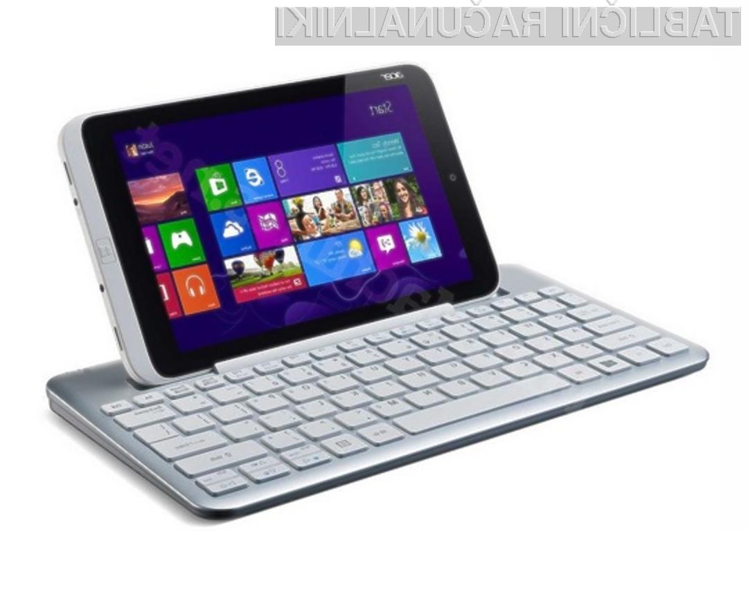 Acer Iconia W3 naj bi bil prvi 8-palčni tablični računalnik s prednameščenim operacijskim sistemom Windows 8.
