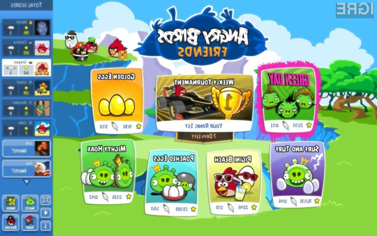 Priljubljena igra Angry Birds Friends prihaja tudi na mobilne naprave.