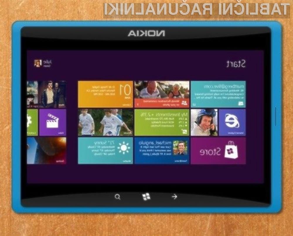 Prvi tablični računalnik Nokia Lumia naj bi bil naprodaj že letos poleti.