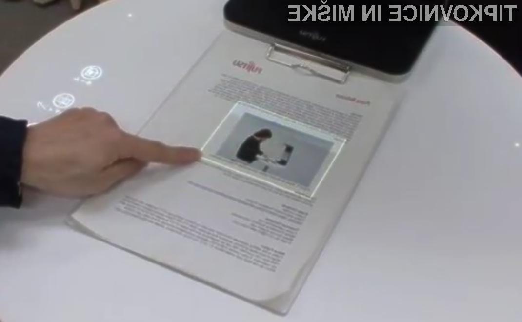 Z napravo podjetja Fujitsu klasičen papir postane uporaben tako, kot na dotik občutljiv zaslon.