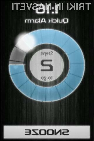 Aplikacija Walk me up! Alarm Clock prinaša inovativen način izklapljanja alarma.