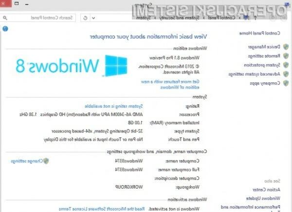 Kot vse kaže bo operacijski sistem Windows 8.1 Pro Preview prinesel zvrhan koš uporabnih novosti!