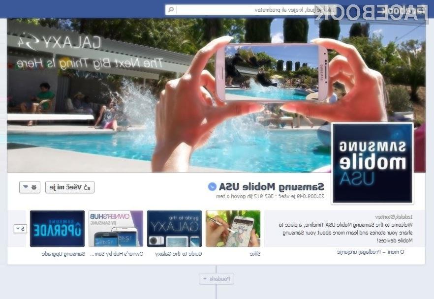 Facebook preverjene profile označuje z modrimi kljukicami.