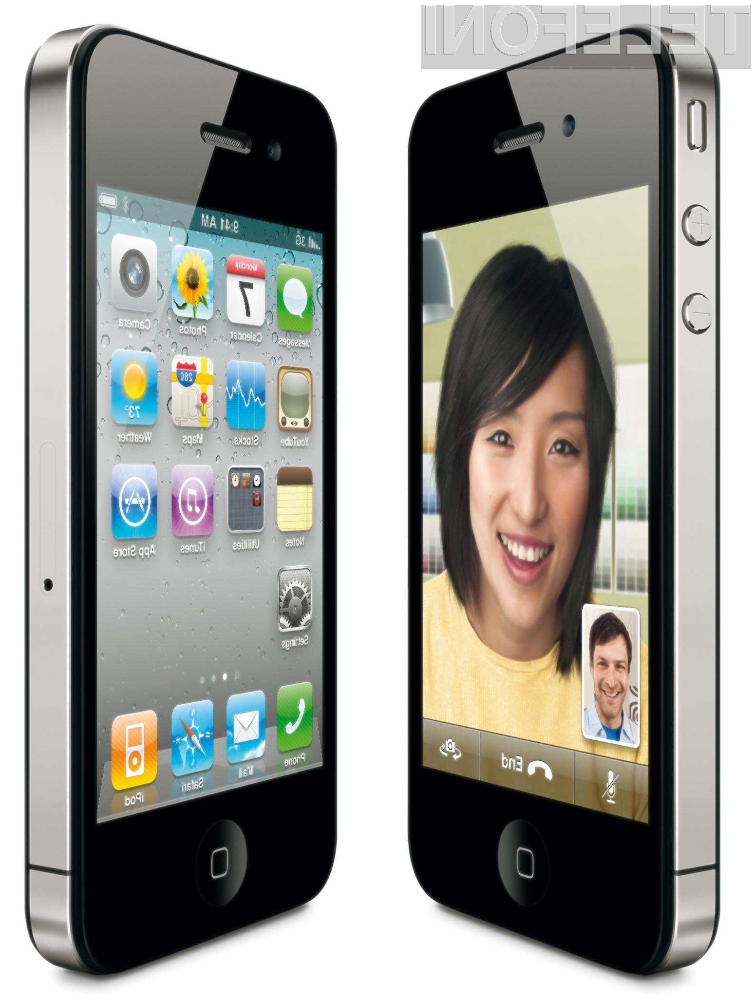 Mobilnik iPhone 4 je ponudil še enkrat več pik na palec kot njegov predhodnik.