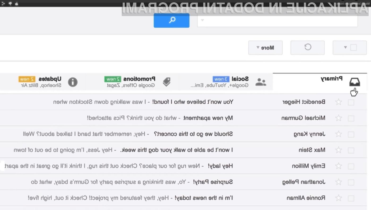 Preglednost e-poštenega predala Gmail se bo z možnostjo »sortiranja« vsebine znatno povečala!