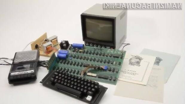 Za prvi Applov računalnik Apple-1 je neznani kupec odštel kar preračunanih 520-tisoč evrov.