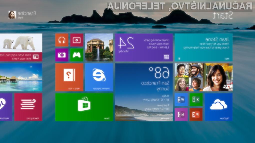 V Windows 8.1 bomo lahko za živimi ploščicami uporabljali isto ozadje kot na namizju.