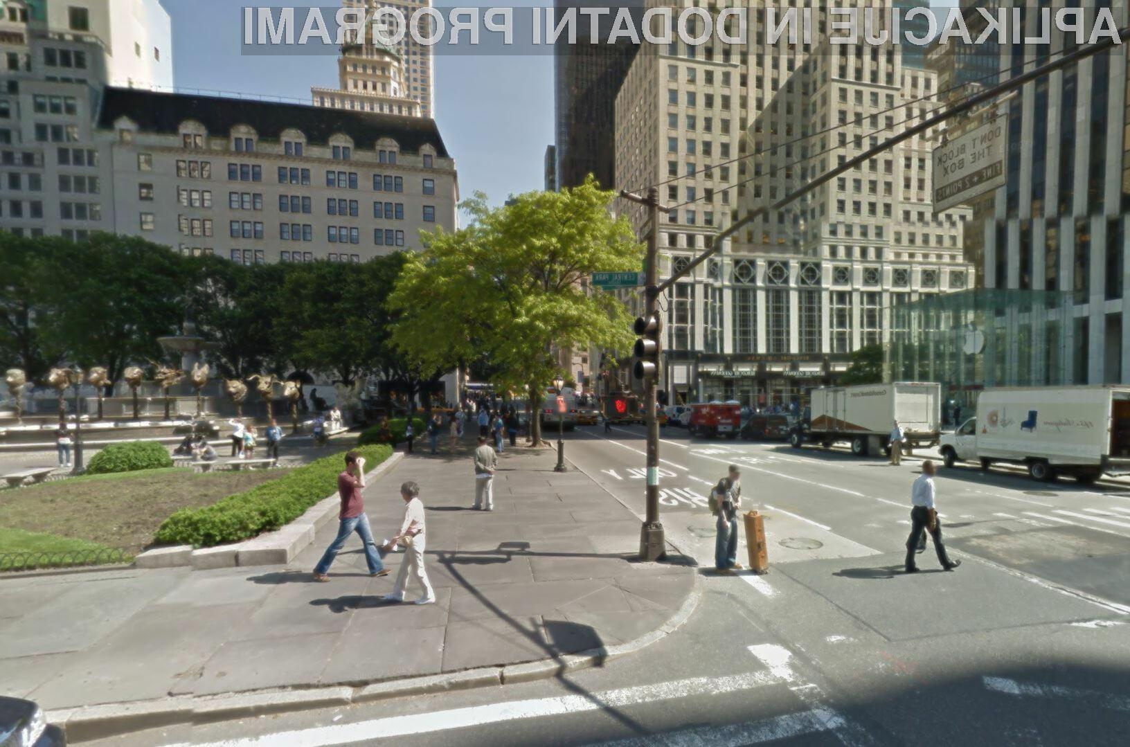 Googlov Street View lahko uporabljajo tako uporabniki Androida kot iOS-a. (foto: Street View)