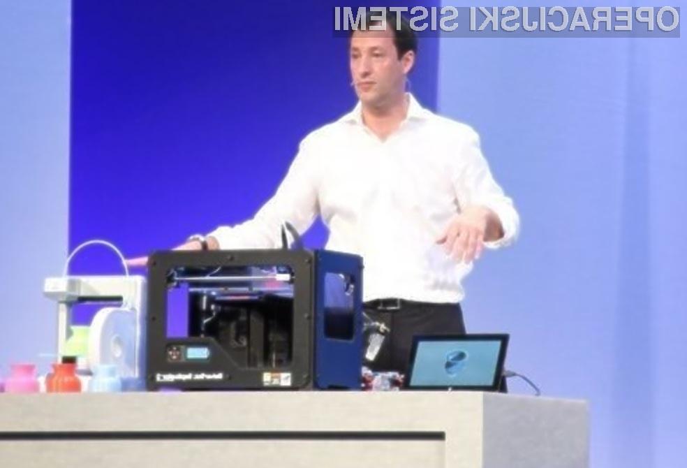 Z Windowsi 8.1 Pro Preview je uporaba 3D tiskalnikov postala tako enostavna kot rokovanje z običajnimi 2D tiskalniki.